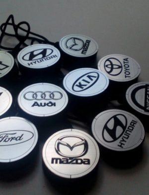 Арома диски серебро с логотипом авто