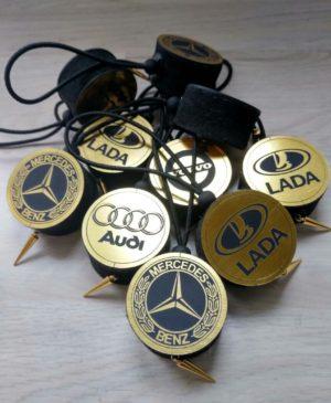 Арома диски золото с логотипом авто